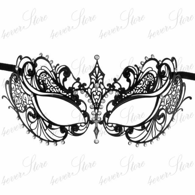 Womens Laser Cut Filigree Metal Mardi Gras Prom Ball Venetian Masquerade Mask