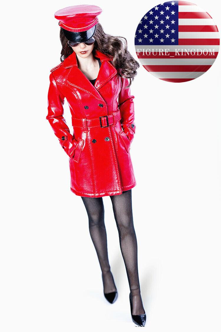 1 6 Trench Coat Dress capi capi capi di abgreeliamento Set For 12'' PHICEN VERYCOOL Female cifra USA dd7039
