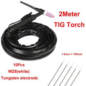 WP-17-Air-Cooled-TIG-Welder-Machine-Welding-Torch-Tungsten-Electrode-WZ8-White