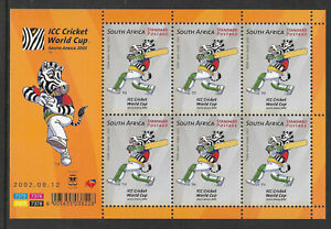 SOUTH AFRICA 2002 ICC CRICKET WORLD CUP Sheet No 1 MNH