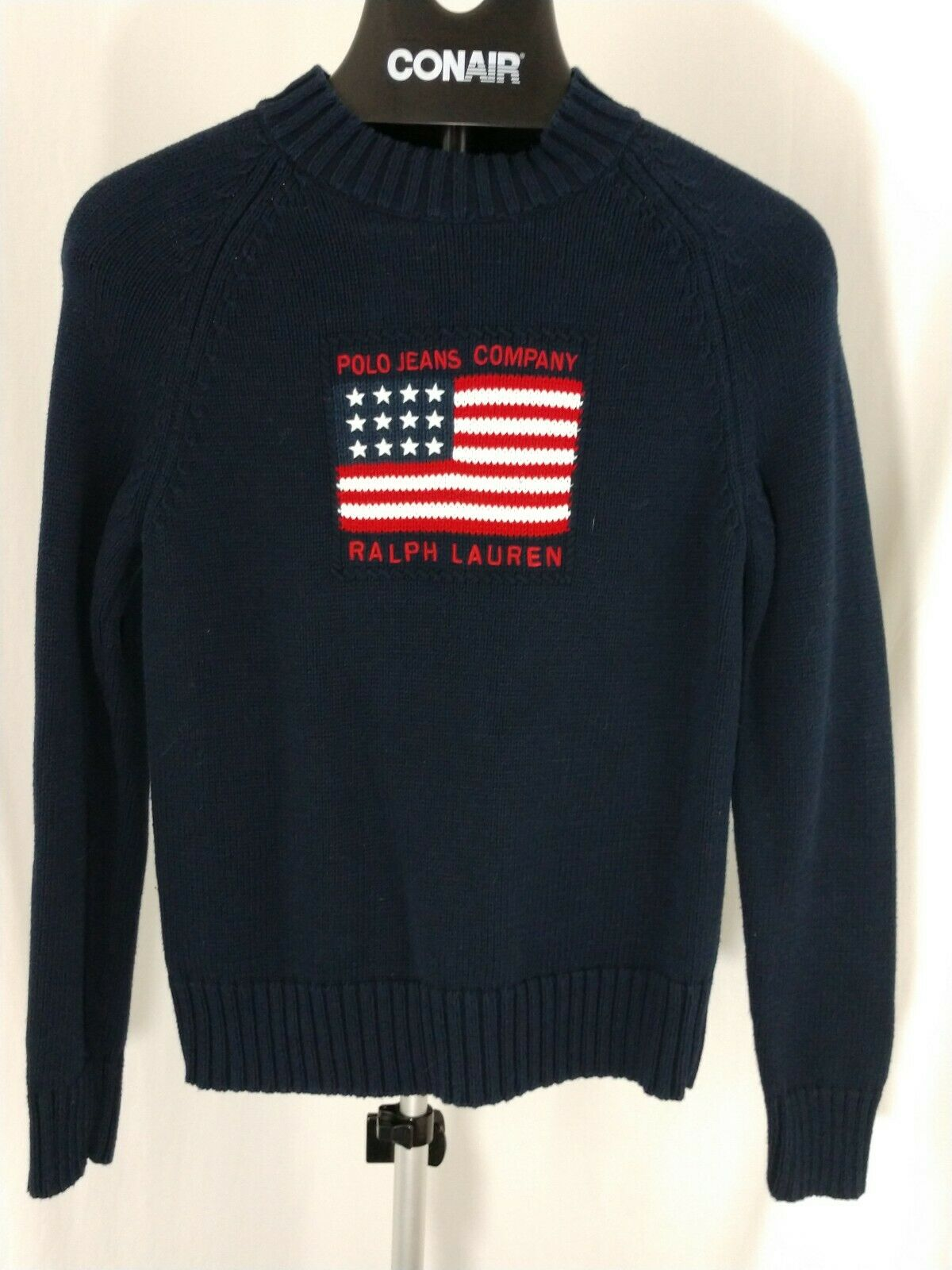 Vintage Polo Jeans Company Ralph Lauren USA Flag Sweater