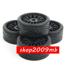 4 PCS Wheel Tires Tyre & Rim For HPI HSP Traxxas 1/8 RC Buggy Car Flat Off Road