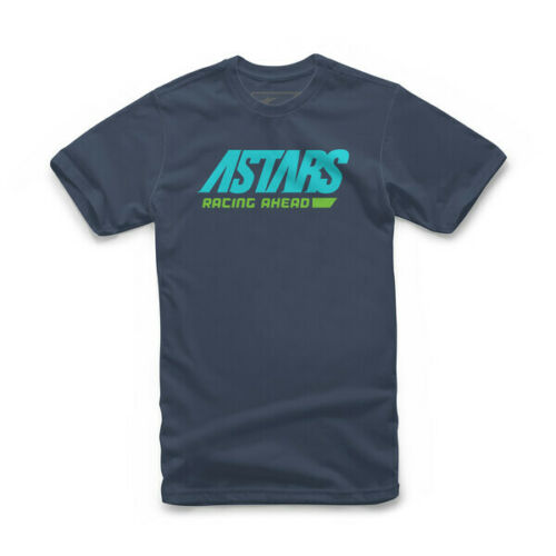 Alpinestars TOUT SIMPLEMENT T-shirt homme à manches courtes T-Shirt Moto Navy Aqua Green j/&s