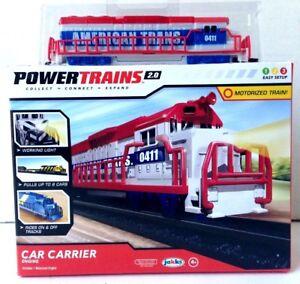Power Trains 2.0* CAR CARRIER ENGINE Motorized Train AMERICAN TRANS Jakks