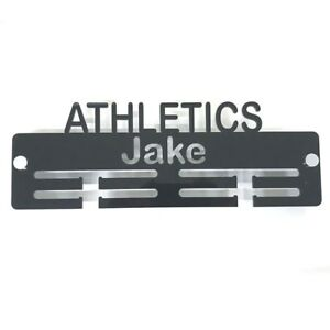 White Super Cool Creation PersonalisedRugby Medal Hanger