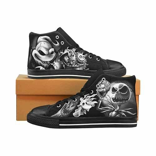 Nightmare Before Christmas Jack Skellington Uomo's Classic High Top Canvas Shoes