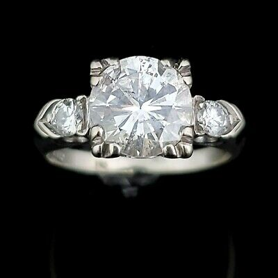 2.07Ct Vintage Pear shape White Stone Engagement Wedding Ring Set 18K White Gold