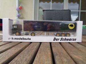 R-H-MODELLAUTO-MAN-LKW-Sattelzug-034-Der-Schwarze-034-OVP-1-87-limitiert-1000-Stueck