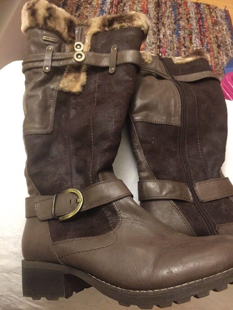 Gino Venturi Dark Braun Mid Calf Suede Stiefel Größe 42, 8UK