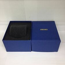 New SEIKO Blue Watch Box Presentation Storage Case