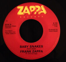 """1979 DANCIN' FOOL / BABY SNAKES USA FRANK ZAPPA RED LABEL 7"""" 45 RPM - NO D-HOLES"""