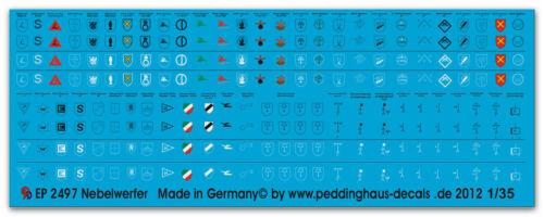 Verbandsabzeichen Peddinghaus 2497 1//35 Nebelwerfer Bat