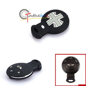Black Union Jack Silicone Key Fob Holder Cover 2nd Gen MINI Cooper R55 R56 R57