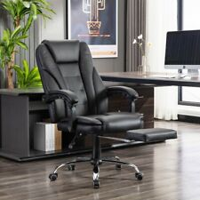 Black Pu Leather High Back Office Computer Chair Executive Task Ergonomic New