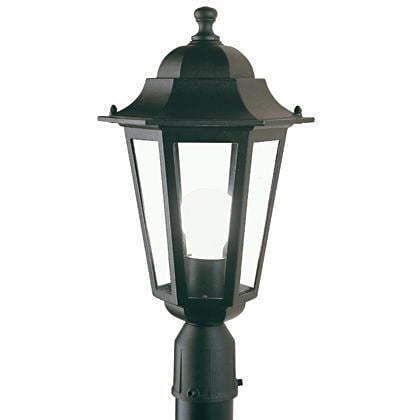 Lampada Testa Palo Diametro 60Mm Colore Nero Da Esterno Linea Esagonale Sovil