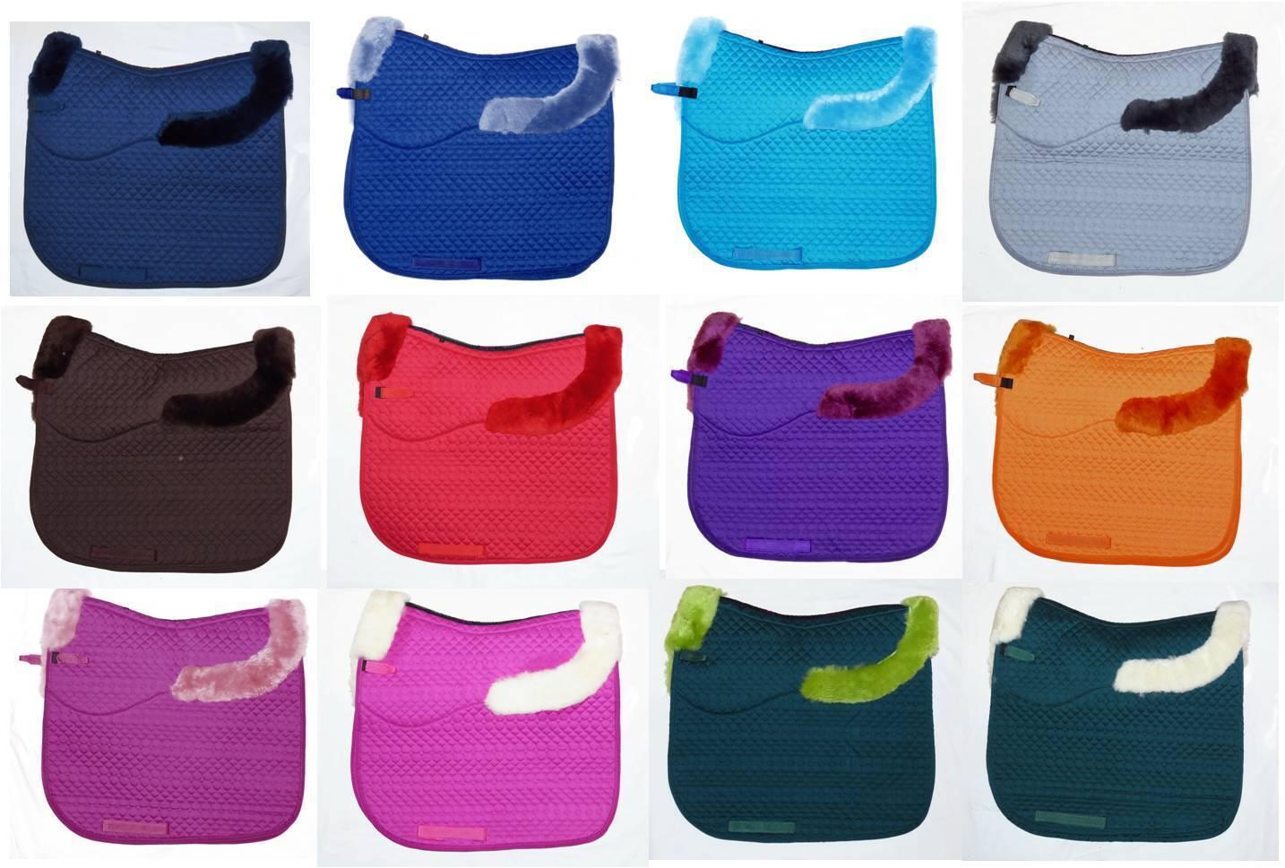 FSS MERINO Sheepskin DRESSAGE CC VSD SaddleCloth Straight Cut SQUARE Saddle Pad