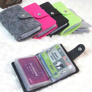 FT-Vintage-Women-039-s-Men-039-s-ID-Credit-Card-Button-Case-Holder-Wallet-Organizer-Che