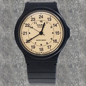 Reloj Nuevo Casio MQ-24-9B Hombres Análoga Oro Resina