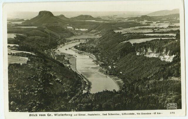 Alte Ansichtskarte Postkarte Blick vom Gr. Winterberg 1937