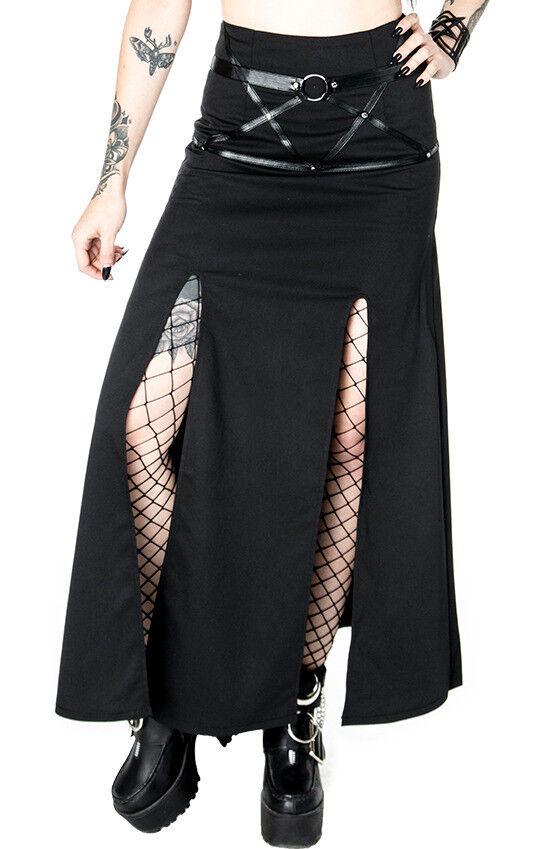 ReStil Villain Harness Gothic Occult Punk Steampunk Emo Side Slit Maxi Rock