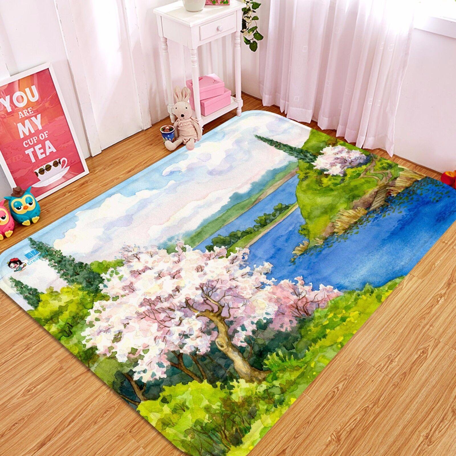 3D Landscape View 03 Non Slip Rug Mat Room Mat Quality Elegant Photo Carpet US