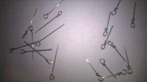 30-Stinger-Spike-Lure-Screws-for-all-predator-rubber-lure-fishing-2-SIZES-PLAIN