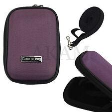 Universal Nylon Viola Custodia Rigida Borsa Zip pouch per piccoli Fotocamera digitale
