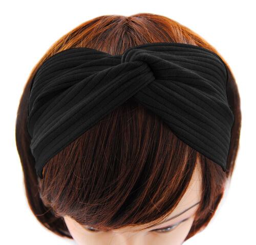Haarband Stirnband Yoga Gelb Zopfhalter Headband Hairband für Sport HB7