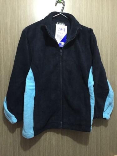 BNWT Boys Girls Sz 10 LW Reid Navy Sky Blue Polar Fleece School Zip Front Jacket