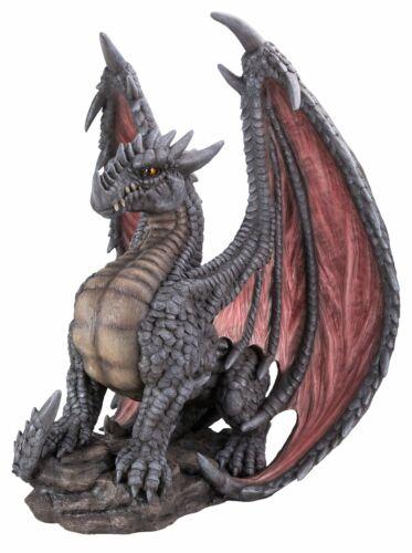 Mythique Dragon-Gris-décoration de jardin-intérieur ou extérieur nouveau
