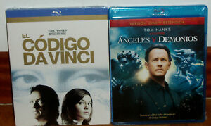 THE-CODE-DA-VINCI-ANGELES-AND-DEMONS-2-BLU-RAY-NEW-NEW-SEALED-UNOPENED-R2