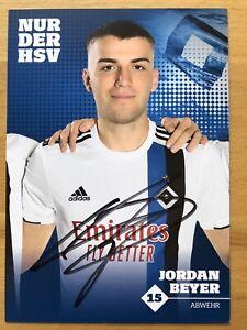 Jordan-Beyer-Ak-Hamburger-Sv-Carte-Autographe-2019-20-Original-Signe