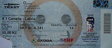 TICKET SKY BOX Hockey su ghiaccio WM 1.5.2015 Canada-Latvia a Praga