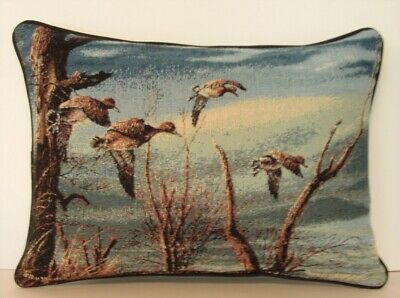 Ducks Flying Over Woods Water Cattails By Terry Redlin Tapestry Pillow New Ebay