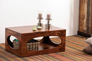 Attraktiv Das Bild Wird Geladen Couchtisch Wohnzimmertisch Tisch Akazie Massiv  Holz 110x60cm ZEN