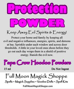 Details about Protection Powder Hoodoo Dust Keep Evil Away Protect Home  Corked Bottle