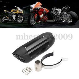 38 51mm Motorcycle Exhaust Muffler Pipe W Silencer Atv Quad Dirt