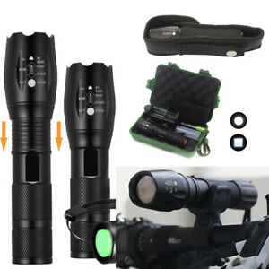 Ultrafire-Flashlight-50000LM-T6-LED-Light-Zoomable-Tactical-18650-amp-Torch-Holder