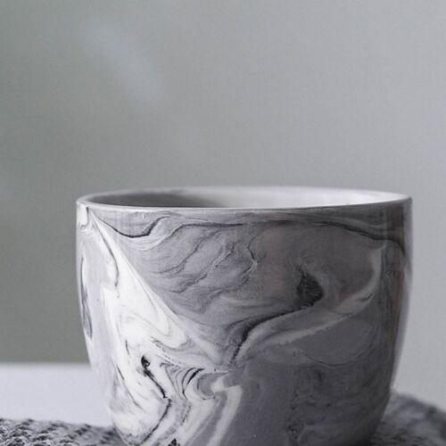 6Pcs Ceramic Plant Pot Marble Succulent Flower Planter Bonsai Box Garden Home