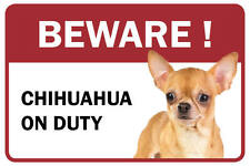 Chihuahua Beware Business Store Retail Counter Sign