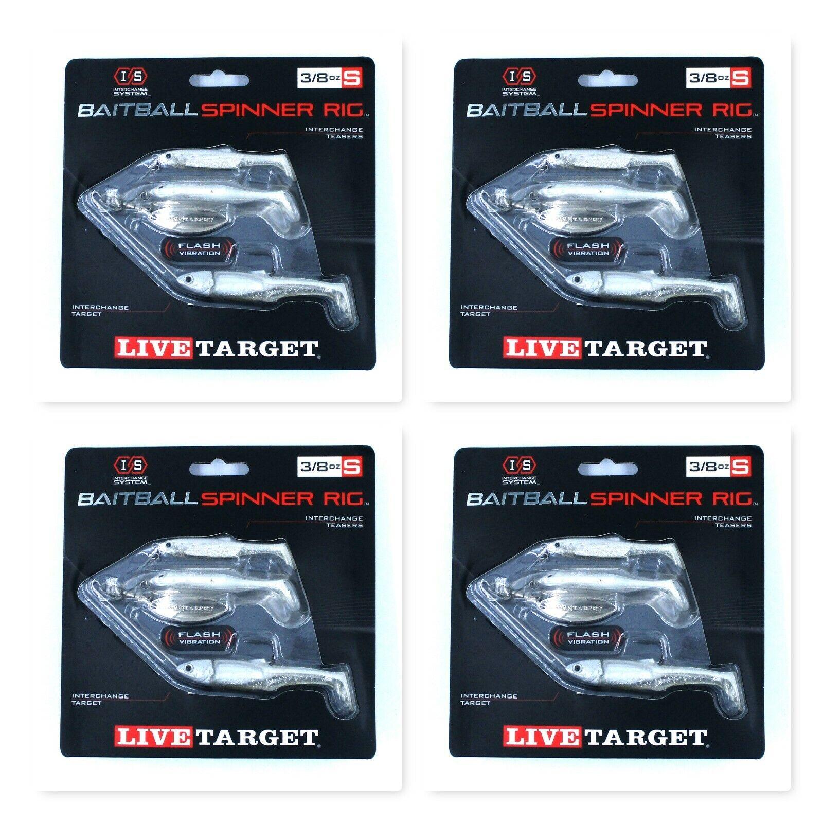 LIVETARGET Lures MNSR11SM851 Baitball Small Spinner Rig Prpl Pearl//silver 3//8oz for sale online