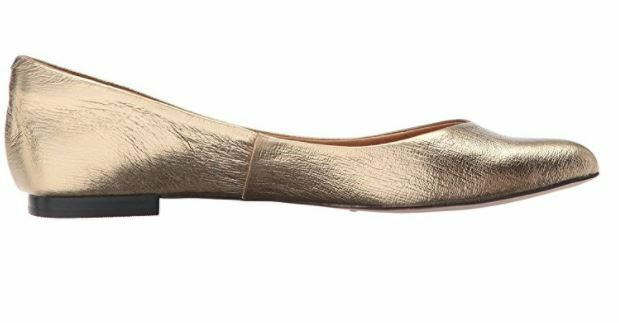 Opportunity chaussures-Corso Como femmes Julia Ballet Flat Flat Flat 8M or CRACKED LEATHER 8M 4ca08c