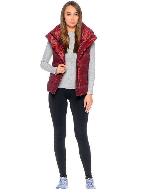 aed55b017a73 Women s Nike Sportswear NSW Down Fill Hooded Vest Red Sz S 809549 ...