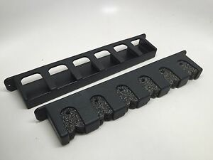 MARINE-BOAT-BLACK-PLASTIC-ROD-STORAGE-RACKS-W-FOAM-VERTICAL-6-ROD-SCRATCH-FREE