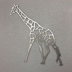 Image is loading Giraffe-Metal-Wall-Art-Plasma-Cut-Skilwerx-Mystical- & Giraffe Metal Wall Art Plasma Cut Skilwerx Mystical Modern safari ...