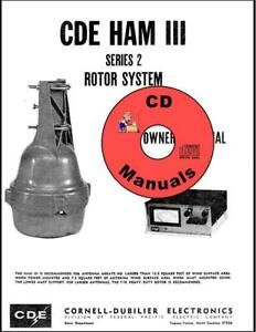 details about cde ham iii cd 44 (series 2) cd manual antenna rotor rotator system cd only