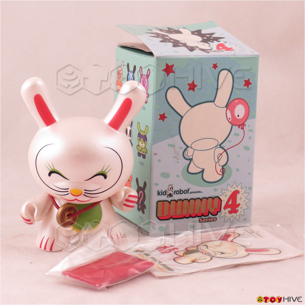 Kidrobot Dunny 2007 Fortune Cat Series 4 par SHANE JESSUP 3 pouces figurine avec boîte