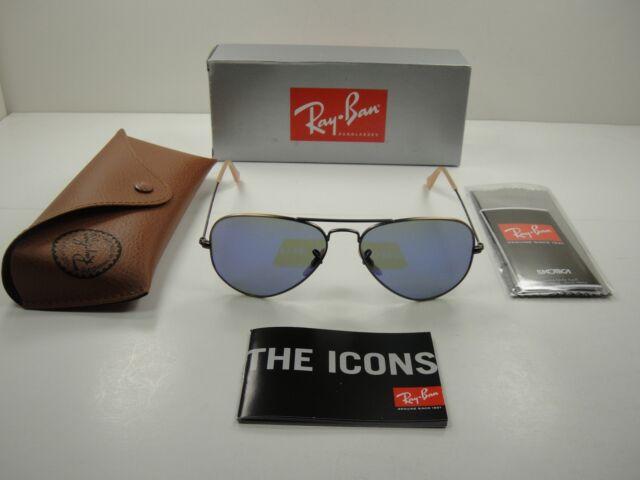 fdab904e39b Ray Ban Rb3025 Aviator Flash Lenses 167 68 Bronze Mirror Sunglasses 58mm  100 UV