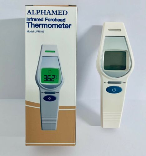 ALPHAMED Kontaktlos Infrarot Thermometer Fieberthermometer LCD Digital Display