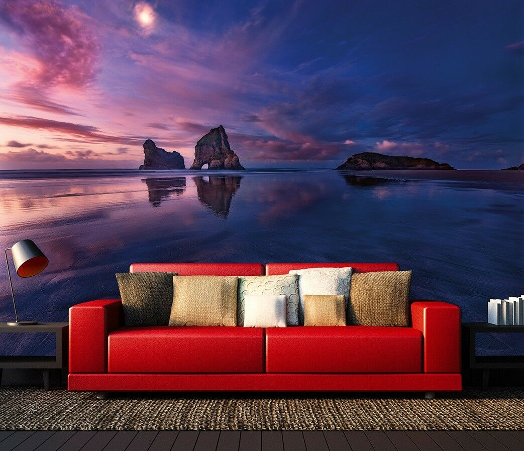 Bedroom wall mural photo wallpaper Bay at Sunset Feature wall decoration + Paste